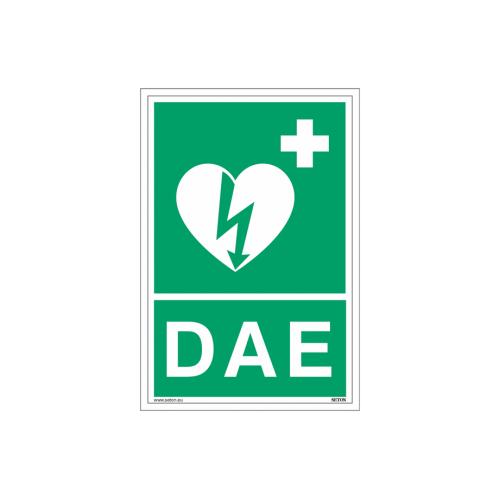 """Signalétique DAE """"Défibrillateur automatique externe pour le cœur"""""""