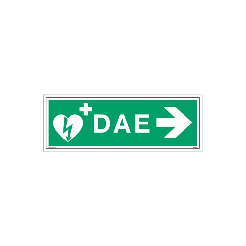 """Signalétique DAE """"Défibrillateur automatisé externe flèche à droite"""""""