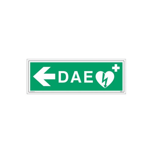 """Signalétique DAE """"Défibrillateur automatisé externe flèche à gauche"""""""