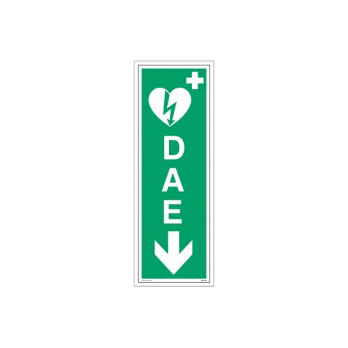 """Signalétique DAE """"Défibrillateur automatisé externe flèche en bas"""""""